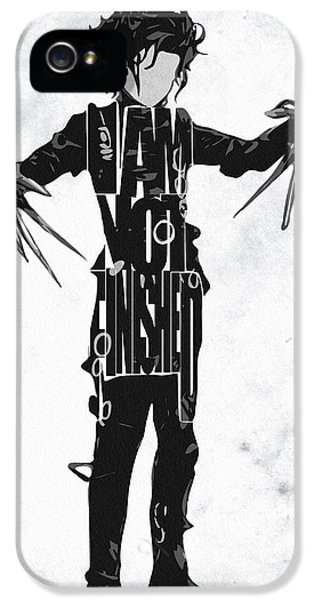Edward Scissorhands - Johnny Depp IPhone 5 Case by Ayse Deniz