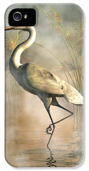 Egret IPhone 5 Case by Daniel Eskridge