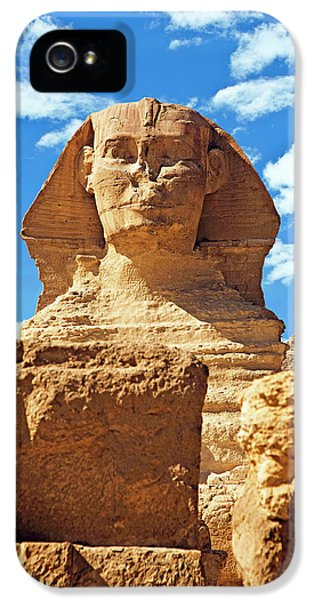 Egypt, Cairo, Giza, The Sphinx IPhone 5 Case by Miva Stock