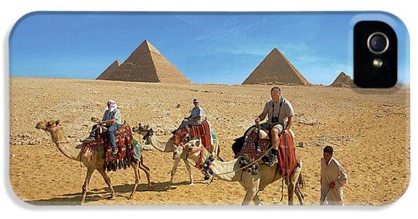 Egypt, Cairo, Giza, Tourists Ride IPhone 5 Case by Miva Stock