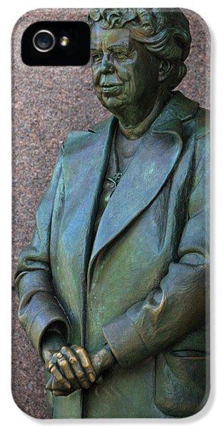 Eleanor Roosevelt Memorial Detail IPhone 5 Case by John Cardamone