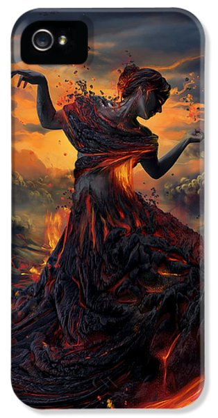 Pele iPhone 5 Case - Elements - Fire by Cassiopeia Art