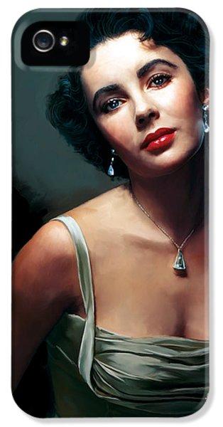Elizabeth Taylor iPhone 5 Case - Elizabeth Taylor by Paul Tagliamonte