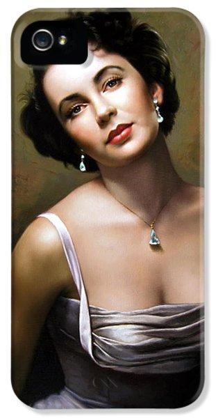 Elizabeth Taylor IPhone 5 Case by Yoo Choong Yeul