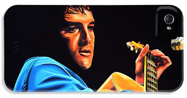 Rhythm And Blues iPhone 5 Case - Elvis Presley 2 Painting by Paul Meijering