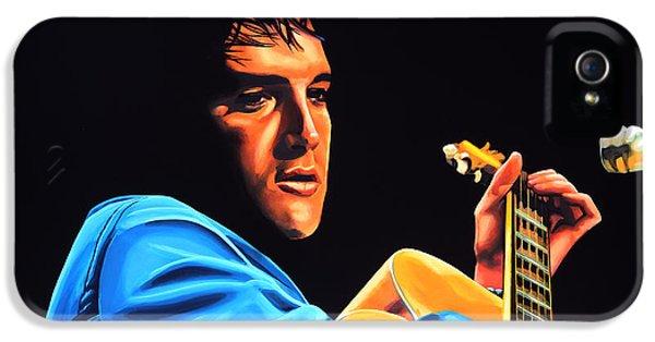 Elvis Presley 2 Painting IPhone 5 / 5s Case by Paul Meijering