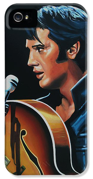 Rhythm And Blues iPhone 5 Case - Elvis Presley 3 Painting by Paul Meijering