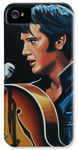 Elvis Presley 3 Painting IPhone 5 Case by Paul Meijering