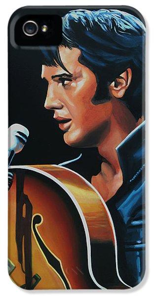 Elvis Presley 3 Painting IPhone 5 / 5s Case by Paul Meijering
