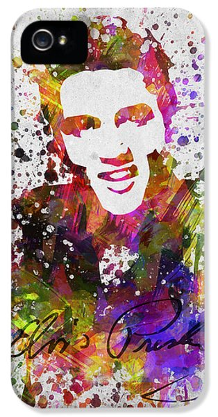 Rhythm And Blues iPhone 5 Case - Elvis Presley In Color by Aged Pixel