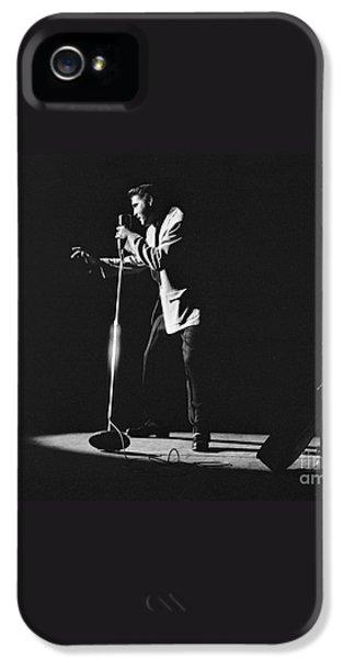 Elvis Presley On Stage In Detroit 1956 IPhone 5 Case by The Harrington Collection