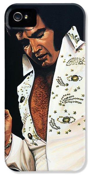 Elvis Presley Painting IPhone 5 / 5s Case by Paul Meijering