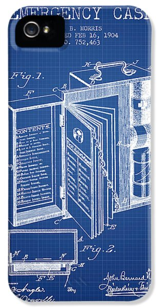 Emergency Case Patent From 1904 - Blueprint IPhone 5 Case by Aged Pixel