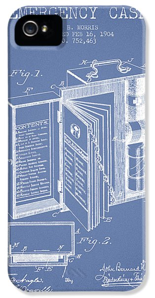 Emergency Case Patent From 1904 - Light Blue IPhone 5 Case by Aged Pixel