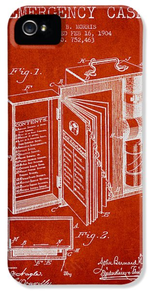 Emergency Case Patent From 1904 - Red IPhone 5 Case by Aged Pixel