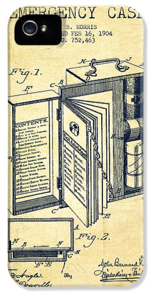 Emergency Case Patent From 1904 - Vintage IPhone 5 Case by Aged Pixel
