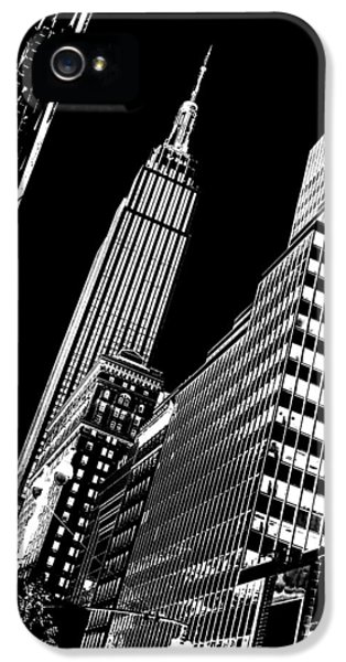 Empire State Building iPhone 5 Case - Empire Perspective by Az Jackson