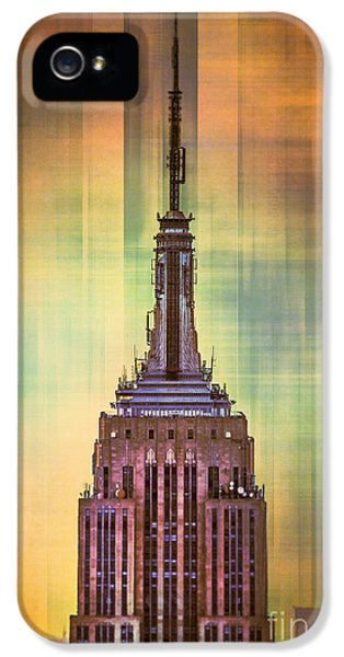 City Scenes iPhone 5 Case - Empire State Building 3 by Az Jackson