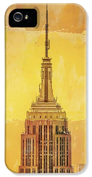 City Scenes iPhone 5 Case - Empire State Building 4 by Az Jackson