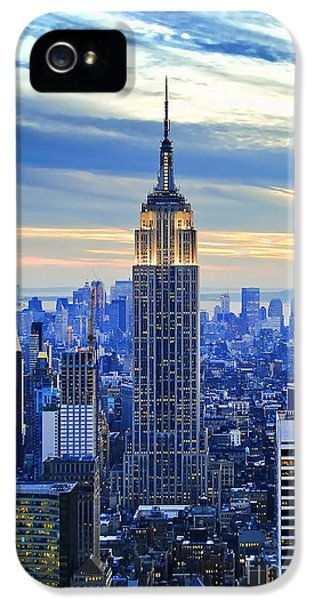 City Scenes iPhone 5 Case - Empire State Building New York City Usa by Sabine Jacobs