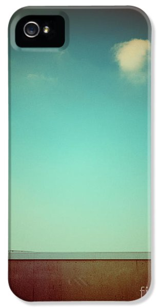 Emptiness With Wall And Cloud IPhone 5 Case by Silvia Ganora