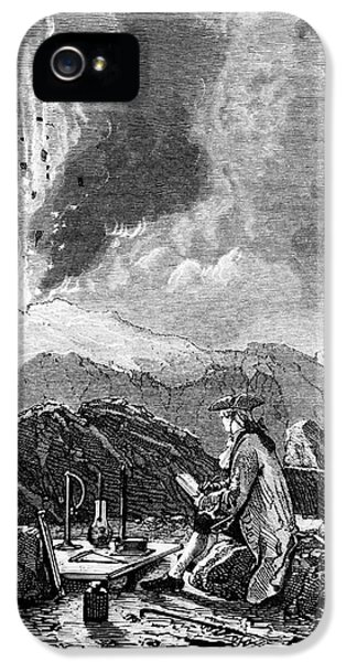 Etna iPhone 5 Case - Engraving Of Mt Etna Being Observed By Spallanzani by Science Photo Library