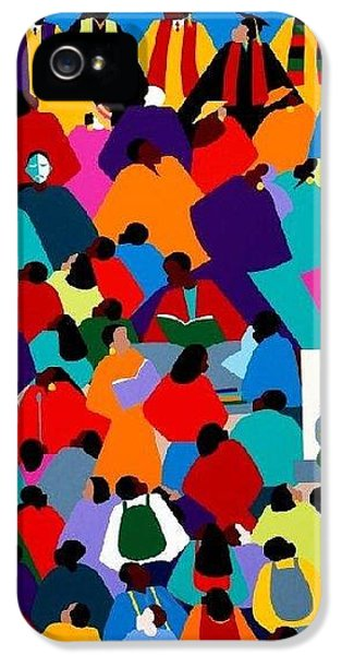 iPhone 5 Case - Enlightenment Asu by Synthia SAINT JAMES