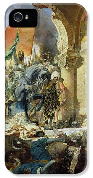 Entry Of The Turks Of Mohammed II Into Constantinople IPhone 5 Case by Benjamin Constant