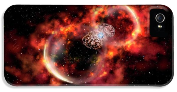 Eta Carinae Outburst IPhone 5 Case by Gemini Observatory Artwork By Lynette Cook