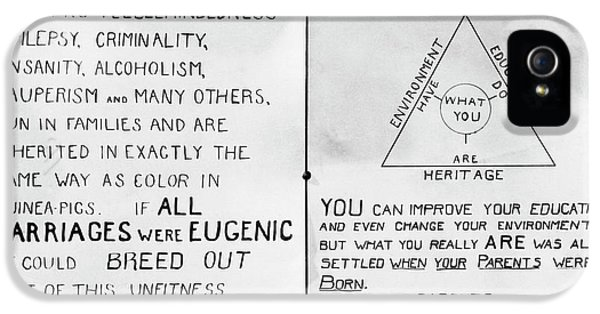Eugenics Posters At Public Fair IPhone 5 Case