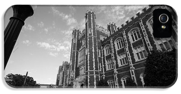 Evans Hall In Black And White IPhone 5 Case by Nathan Hillis