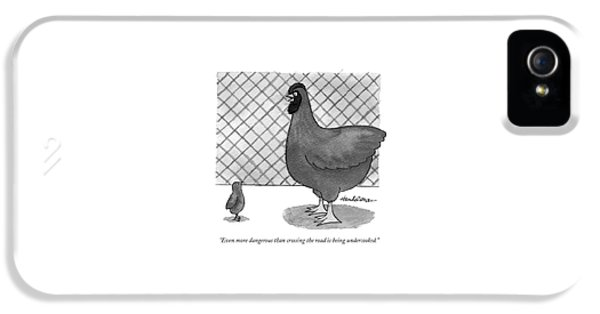 Even More Dangerous Than Crossing The Road IPhone 5 Case by J.B. Handelsman