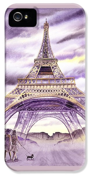 Evening In Paris A Walk To The Eiffel Tower IPhone 5 Case