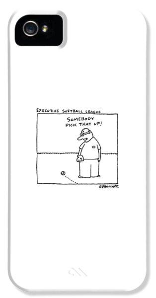 Softball iPhone 5 Case - Executive Softball League by Charles Barsotti