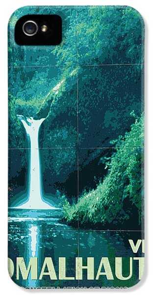 Exoplanet 04 Travel Poster Fomalhaut B IPhone 5 Case by Chungkong Art