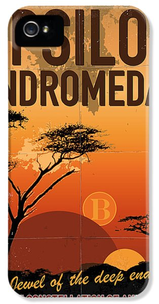 Exoplanet 06 Travel Poster Upsilon Andromedae 4 IPhone 5 Case