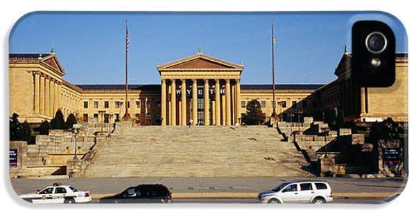 Facade Of An Art Museum, Philadelphia IPhone 5 Case by Panoramic Images
