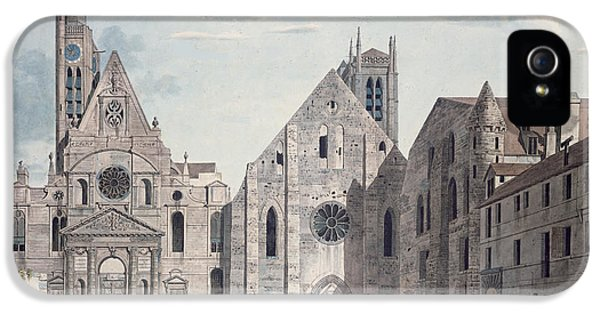 Facades Of The Churches Of St Genevieve And St Etienne Du Mont IPhone 5 Case