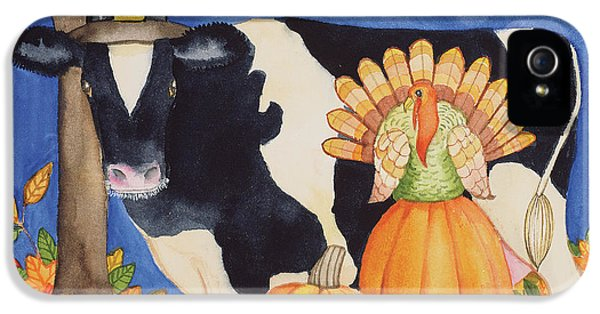 Fall Cow IPhone 5 / 5s Case by Kathleen Parr Mckenna