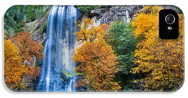 Fall Silver Falls IPhone 5 Case by Robert Bynum