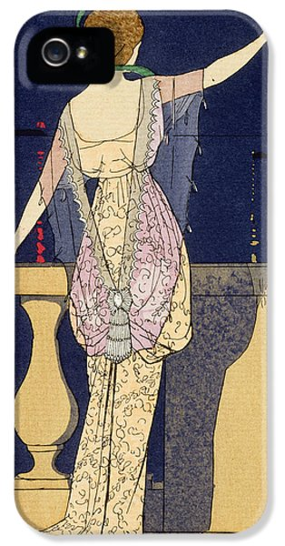 Farewell At Night IPhone 5 Case by Georges Barbier