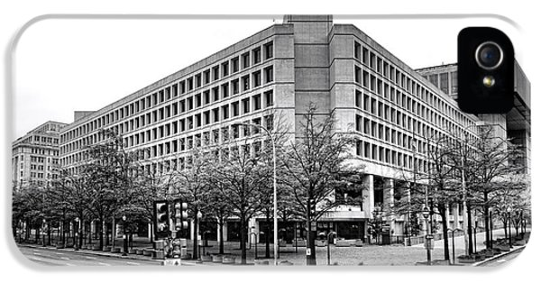 Fbi Building Front View IPhone 5 Case by Olivier Le Queinec