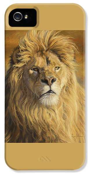 Lion iPhone 5 Case - Fearless - Detail by Lucie Bilodeau