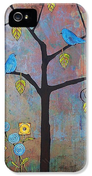 Bluebird iPhone 5 Case - Feathered Friends by Blenda Studio