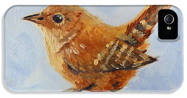 Wren iPhone 5 Case - Feathered by Nancy Merkle