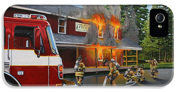 Feed Store Fire IPhone 5 Case by Paul Walsh