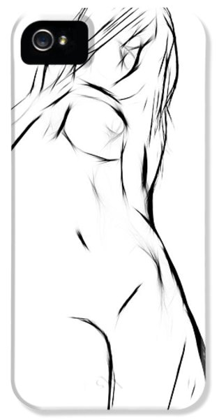 Nudes iPhone 5 Case - Female by Steve K