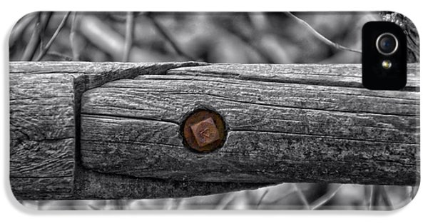Fence Rail With Rusty Bolt IPhone 5 Case