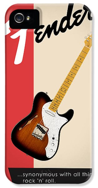 Guitar iPhone 5 Case - Fender All Things Rock N Roll by Mark Rogan