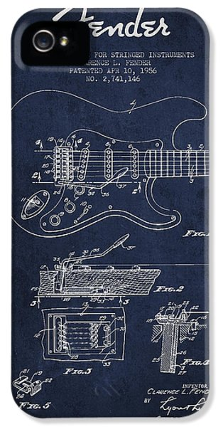 Fender Tremolo Device Patent Drawing From 1956 IPhone 5 Case by Aged Pixel